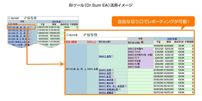 図:BIツール(Dr.Sum EA)活用イメージ